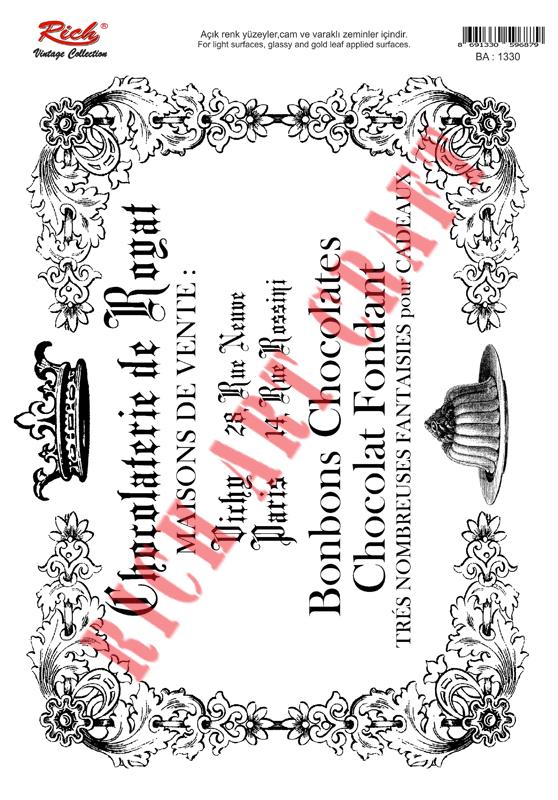 Transfer New Vintage Rich TR-1330 23x33 cm
