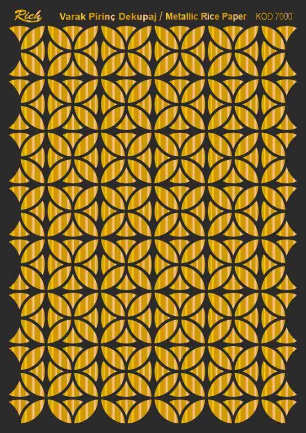 Ριζόχαρτο Rich Soft Gold 29x41 cm 7000