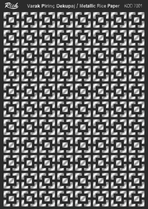 Ριζόχαρτο Rich Soft Silver 29x41 cm 7001