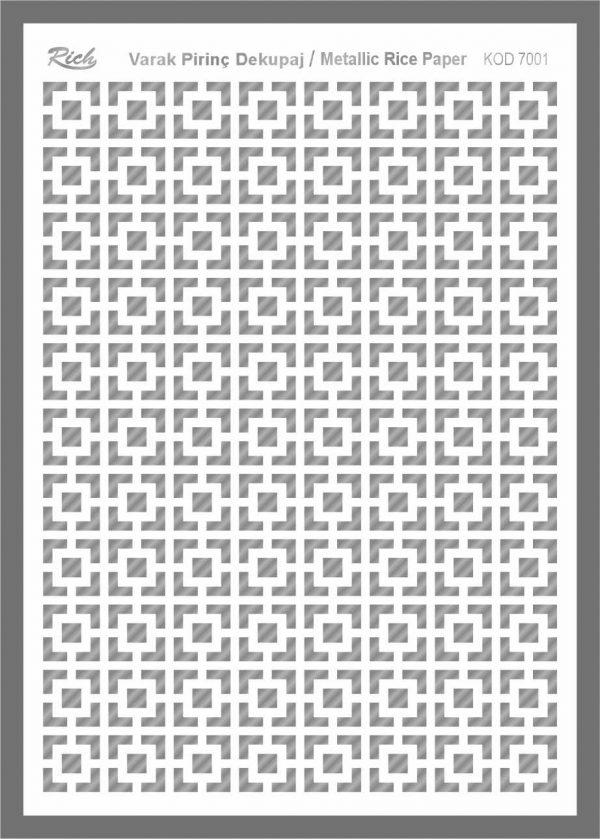 Ριζόχαρτο Rich Silver 29x41 cm 7001