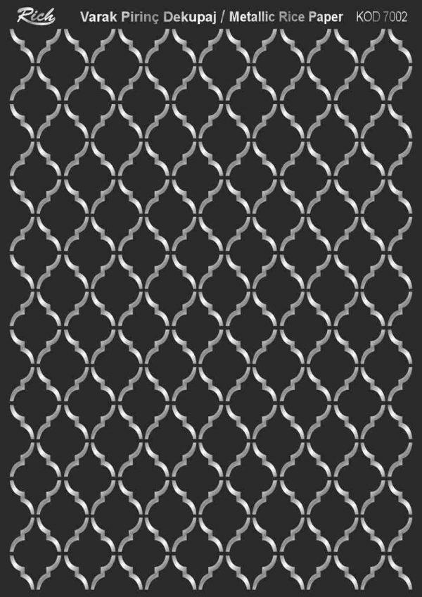 Ριζόχαρτο Rich Soft Silver 29x41 cm 7002