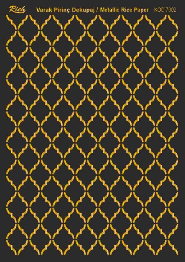 Ριζόχαρτο Rich Soft Gold 29x41 cm 7002