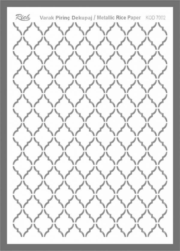 Ριζόχαρτο Rich Silver 29x41 cm 7002