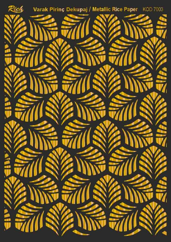 Ριζόχαρτο Rich Soft Gold 29x41 cm 7003