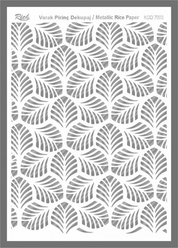 Ριζόχαρτο Rich Silver 29x41 cm 7003