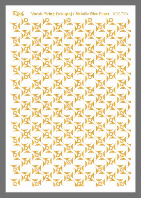 Ριζόχαρτο Rich Gold 29x41 cm 7004