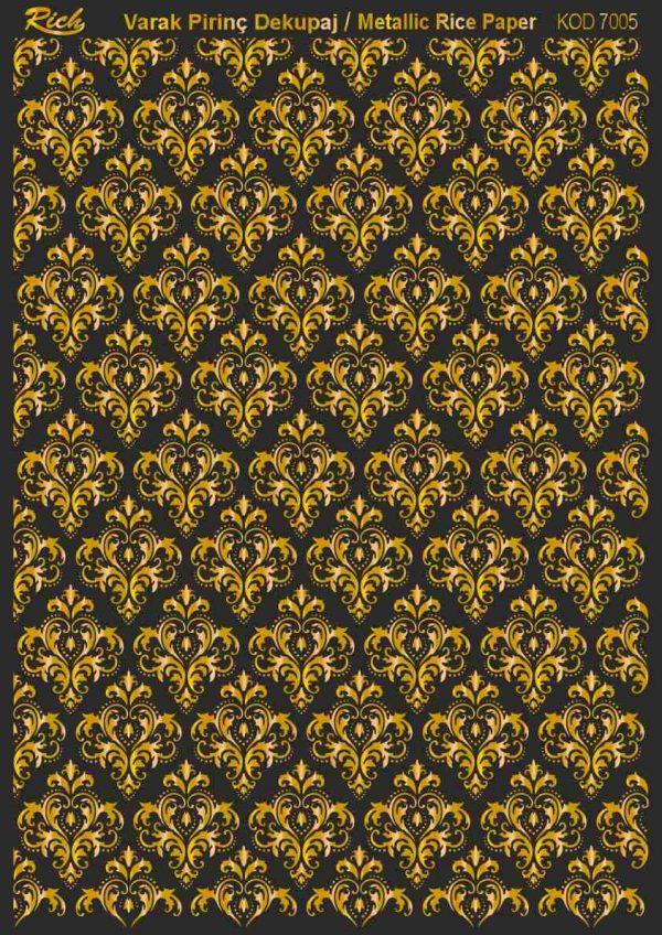 Ριζόχαρτο Rich Soft Gold 29x41 cm 7005
