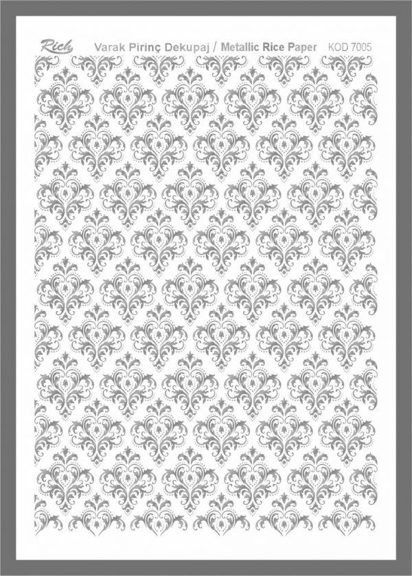 Ριζόχαρτο Rich Silver 29x41 cm 7005