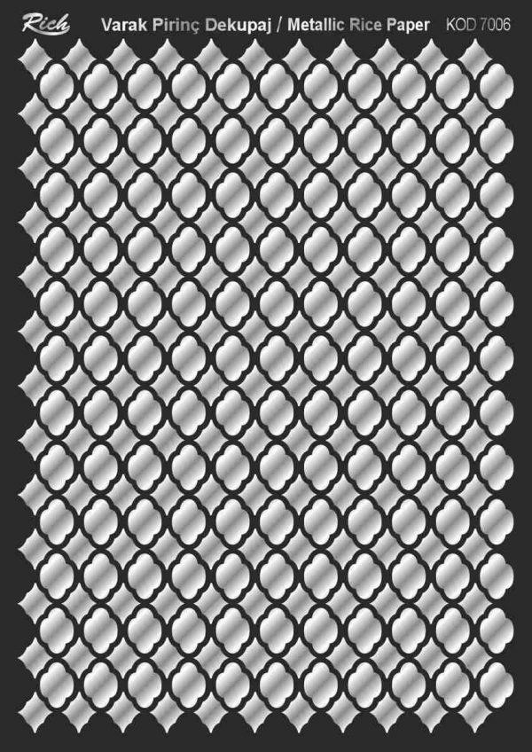 Ριζόχαρτο Rich Soft Silver 29x41 cm 7006