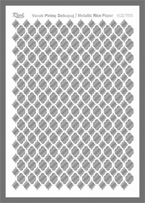 Ριζόχαρτο Rich Silver 29x41 cm 7006