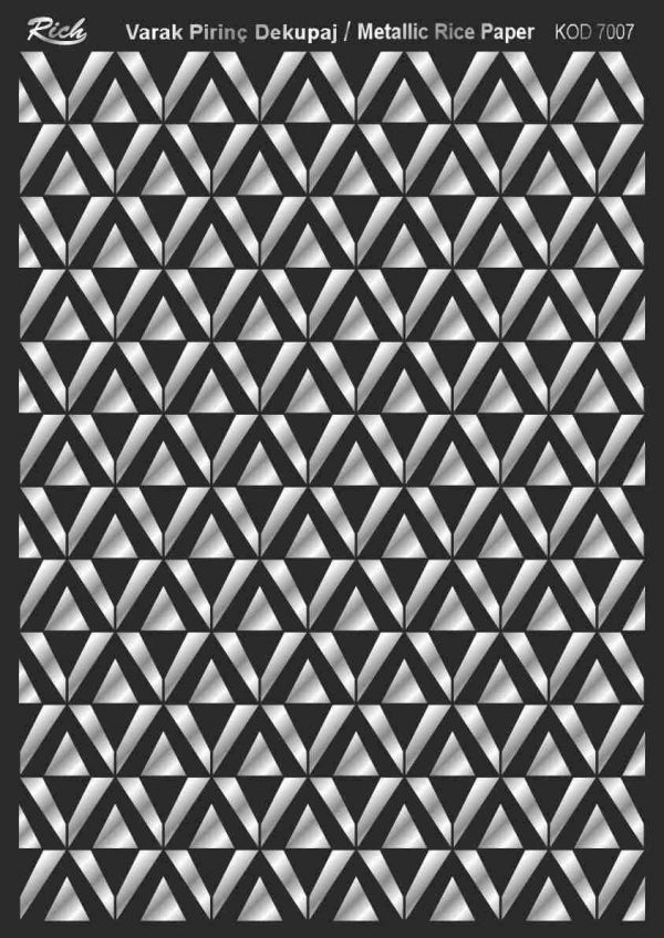 Ριζόχαρτο Rich Soft Silver 29x41 cm 7007