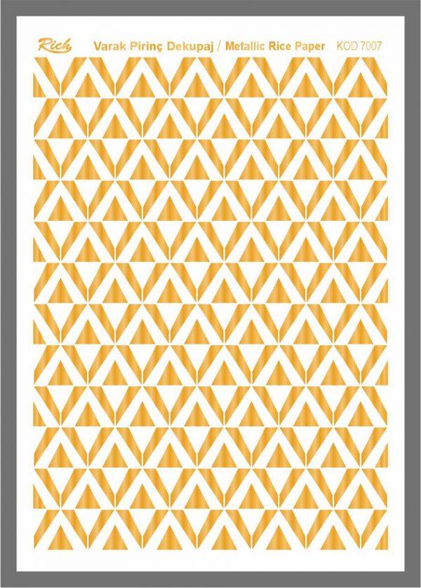 Ριζόχαρτο Rich Gold 29x41 cm 7007