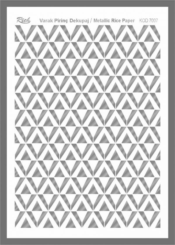 Ριζόχαρτο Rich Silver 29x41 cm 7007