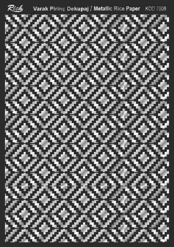 Ριζόχαρτο Rich Soft Silver 29x41 cm 7008