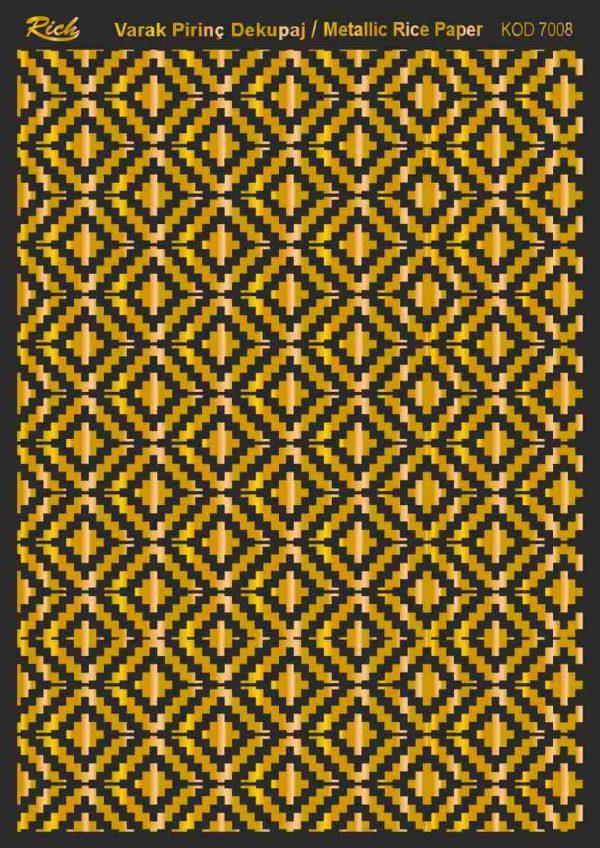 Ριζόχαρτο Rich Soft Gold 29x41 cm 7008