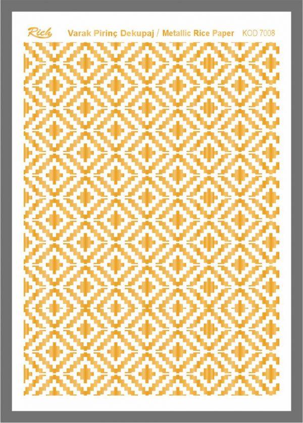 Ριζόχαρτο Rich Gold 29x41 cm 7008
