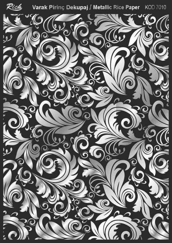 Ριζόχαρτο Rich Soft Silver 29x41 cm 7010