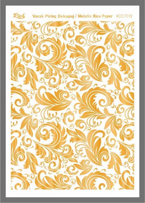 Ριζόχαρτα Rich 29×41 cm χρυσά