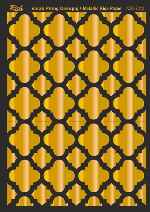 Ριζόχαρτο Rich Soft Gold 29x41 cm 7012