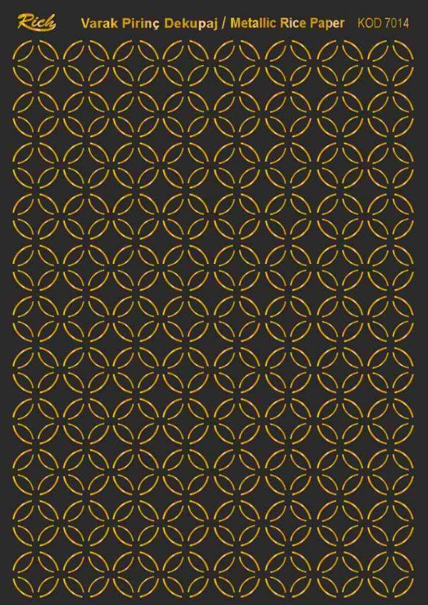 Ριζόχαρτο Rich Soft Gold 29x41 cm 7014