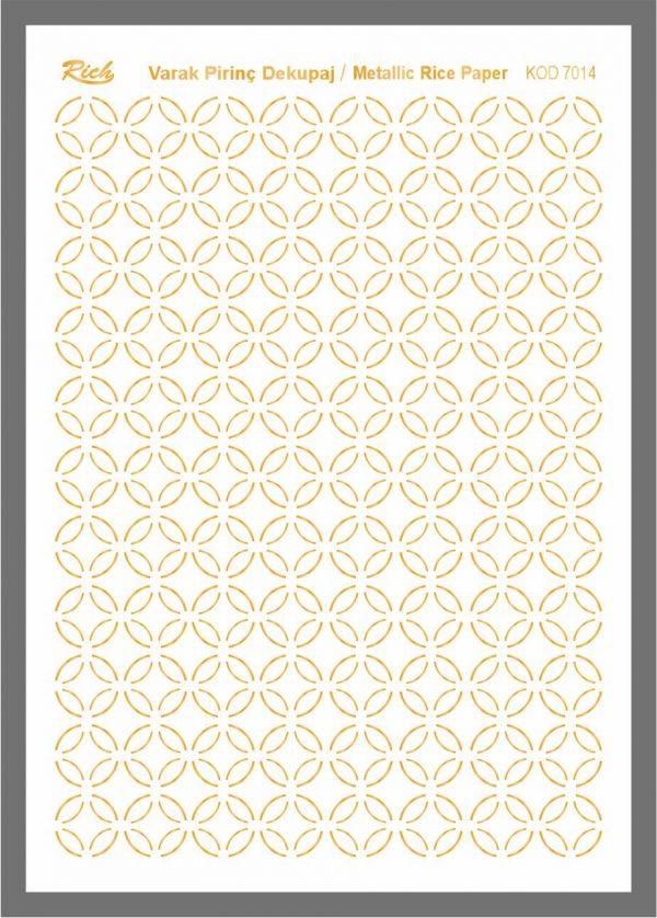 Ριζόχαρτο Rich Gold 29x41 cm 7014