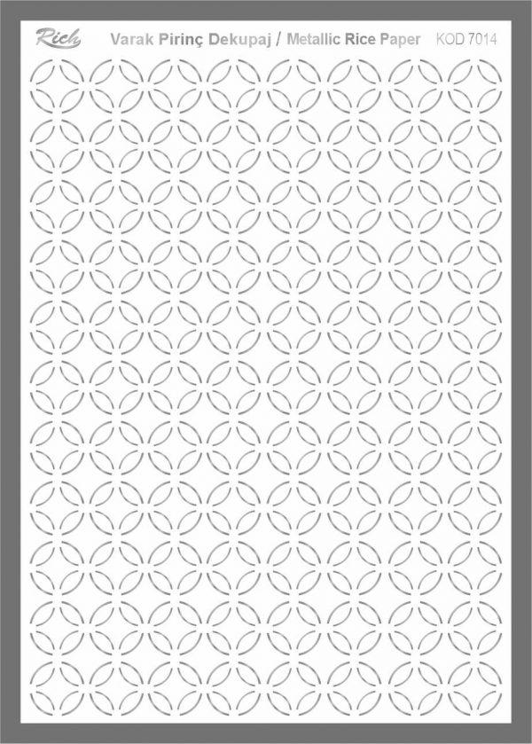 Ριζόχαρτο Rich Silver 29x41 cm 7014