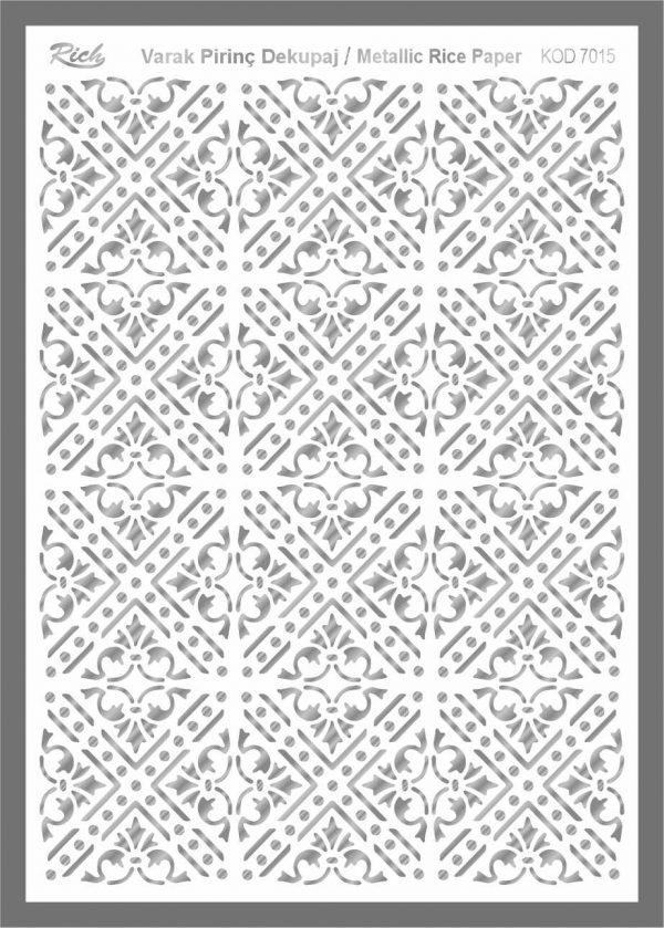 Ριζόχαρτο Rich Silver 29x41 cm 7015