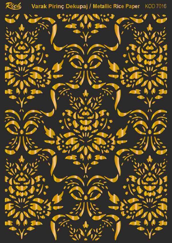 Ριζόχαρτο Rich Soft Gold 29x41 cm 7016