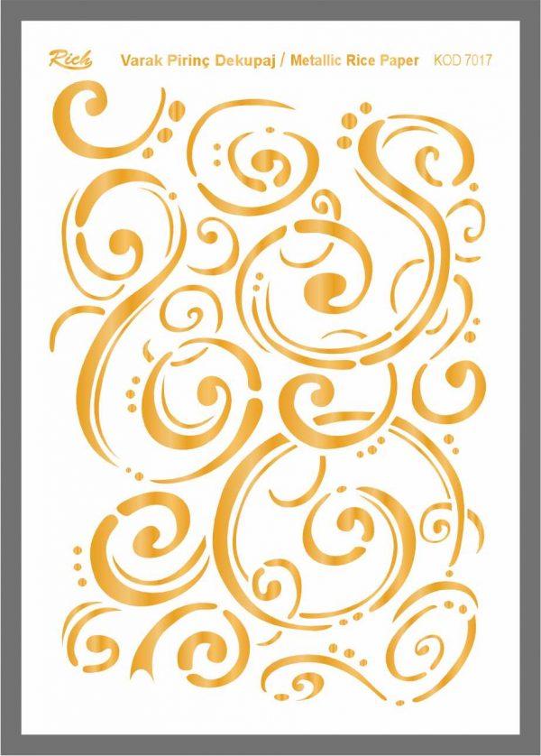 Ριζόχαρτο Rich Gold 29x41 cm 7017