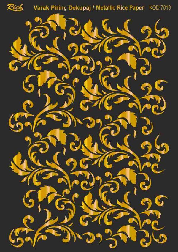 Ριζόχαρτο Rich Soft Gold 29x41 cm 7018