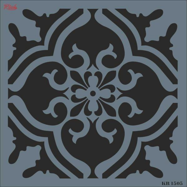Stencil Rich Tile Serie 30x30 cm KR1505